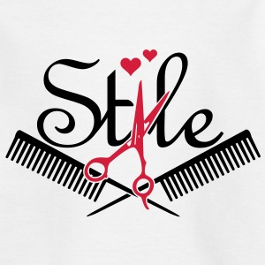 haar stijl / hair style (2c) Kinder shirts - Teenager T-shirt