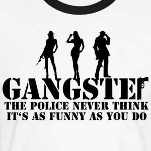 the police never think it's as funny as you do T-Shirts - Männer Kontrast-T-Shirt