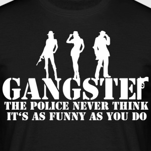 the police never think it's as funny as you do T-Shirts - Männer T-Shirt