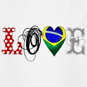 Love Brazil Black - Teenager T-Shirt