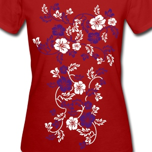 hawaii flower  T-Shirts - Frauen Bio-T-Shirt