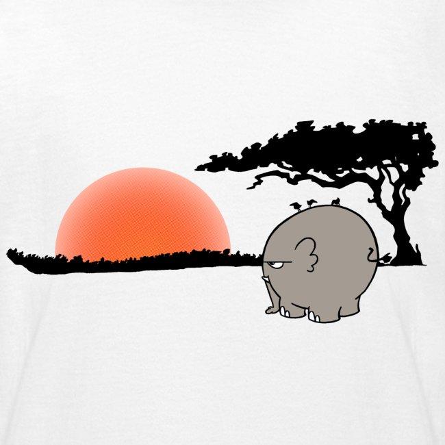 Ngumbe im Sonnenuntergang - klassisches Kinder T-Shirt
