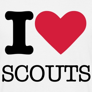 I love Scouts - Mannen T-shirt