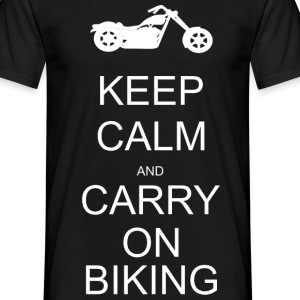 Keep calm and carry on biking T-Shirts - Men's T-Shirt