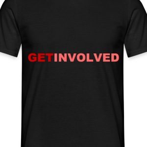 D.F.A. Designs - GET INVOLVED RED - Men's T-Shirt