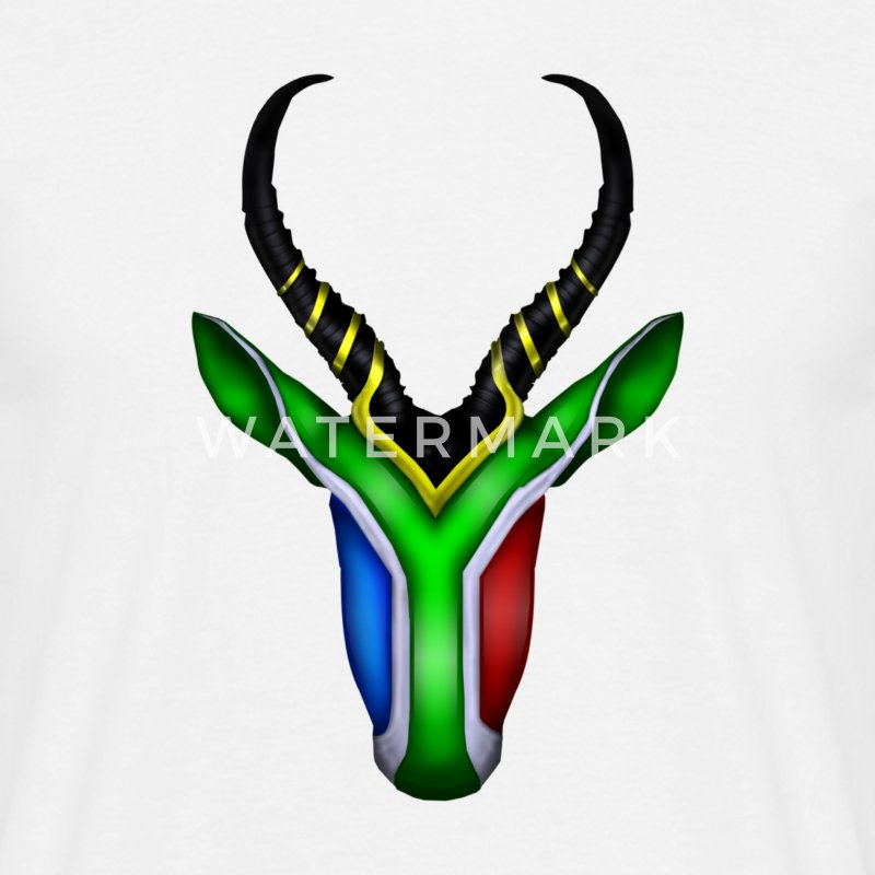 Springbok Flag - South Africa T-Shirts - Men's T-Shirt
