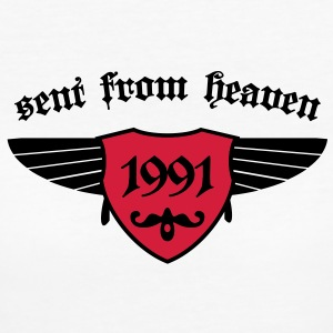 sent from heaven 1991 T-Shirts - Frauen Bio-T-Shirt