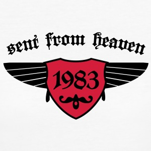 sent from heaven 1983 T-Shirts - Frauen Bio-T-Shirt