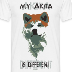 akita different - transparent white version T-shirt - Maglietta da uomo