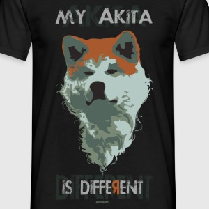 akita different color T-shirt - Maglietta da uomo