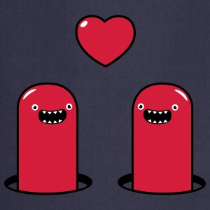 Cute Monsters in Love Kookschorten - Keukenschort