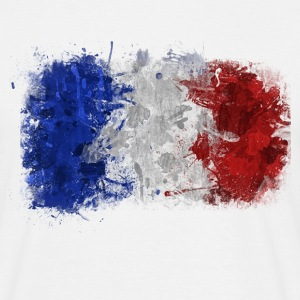 French Flag Graffiti - Men's T-Shirt