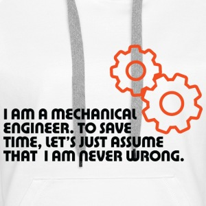 I Am A Mechanical Engineer 5 (dd)++ Felpe - Felpa con cappuccio premium da donna