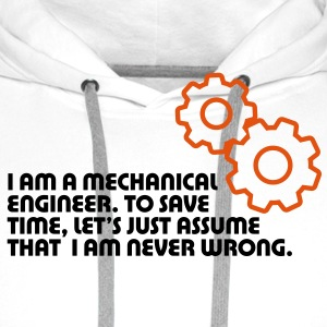 I Am A Mechanical Engineer 5 (2c)++ Felpe - Felpa con cappuccio premium da uomo