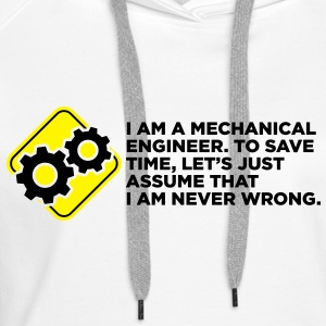I Am A Mechanical Engineer 4 (2c)++ Sweatshirts - Dame Premium hættetrøje