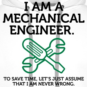I Am A Mechanical Engineer 2 (2c)++ Hoodies & Sweatshirts - Men's Premium Hoodie