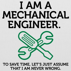 I Am A Mechanical Engineer 2 (2c)++ Väskor - Tygväska