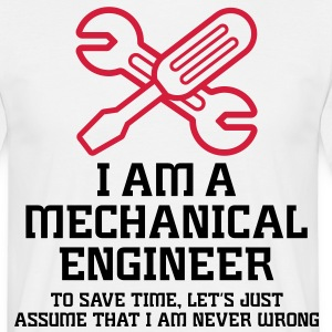 I Am A Mechanical Engineer 1 (2c)++ Koszulki - Koszulka męska