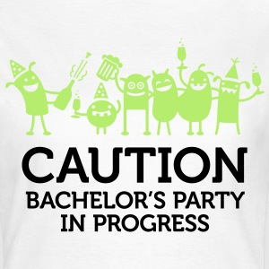 Caution Bachelors Party 2 (2c)++ Tee shirts - T-shirt Femme