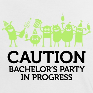 Caution Bachelors Party 2 (2c)++ Camisetas - Camiseta contraste mujer