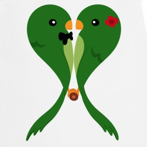 Parakeets in love  Aprons - Cooking Apron