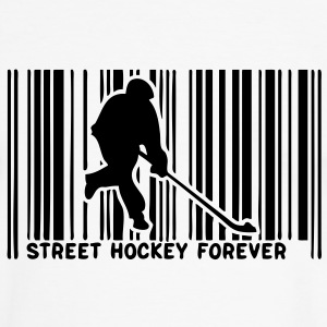 code barre player street hockey1 Tee shirts - T-shirt contraste Homme