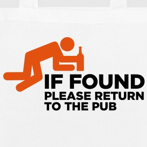 If Found Please Return 3 (2c)++ Mochilas - Bolsa de tela ecológica