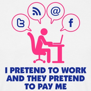 I Pretend To Work 1 (2c)++ T-shirts - Herre-T-shirt