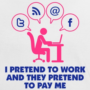I Pretend To Work 1 (2c)++ T-shirts - Dame kontrast-T-shirt