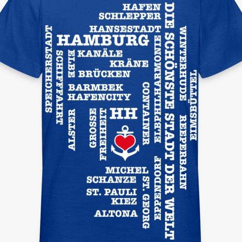 Hamburg Begriffe / Herz auf Anker / Text weiss
