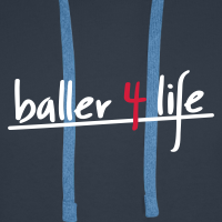 Zoom: Men's Premium Hoodie with design baller 4 life