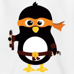 Ninja Pinguin Michaelangelo Kinder T-Shirts - Teenager T-Shirt