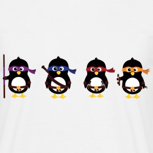 Penguins ninjaer T-shirts - Herre-T-shirt