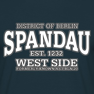Spandau West Side (white print) - Men's T-Shirt