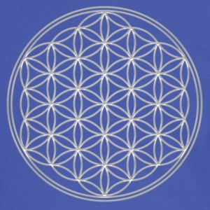 FEEL THE ENERGY, Flower of Life, Silver, Sacred Geometry, Protection Symbol, Harmony, Balance T-Shirts - Men's Ringer Shirt