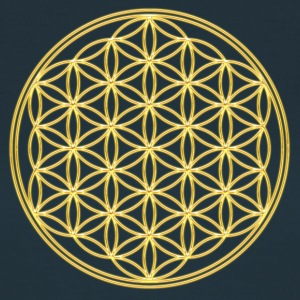 FEEL THE ENERGY, Flower of Life, Gold, Sacred Geometry, Protection Symbol, Harmony, Balance T-shirts - Dame-T-shirt