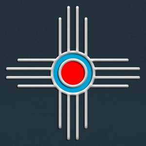 Zia Sun, Silver, Turquoise, Red, Zia Pueblo, Native American, New  Mexico, Sun Symbol, Sacred Symbol T-Shirts - Women's T-Shirt