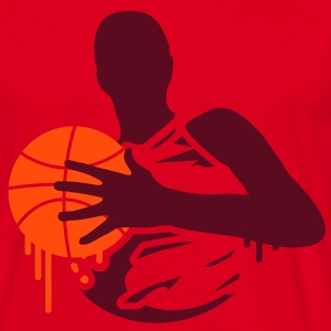 A basketball player with a basketball  T-Shirts - Men's T-Shirt