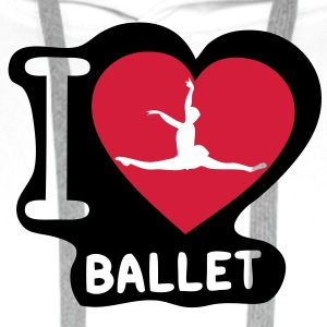 love coeur heart danseuse ballet dancer5 Sweat-shirts - Sweat-shirt à capuche Premium pour hommes