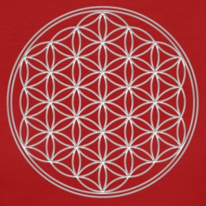 FEEL THE ENERGY!, Flower of Life, Silver, Sacred Geometry, Protection Symbol, Harmony, Balance T-Shirts - Frauen Bio-T-Shirt