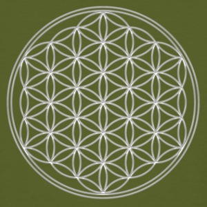 FEEL THE ENERGY!, Flower of Life, Silver, Sacred Geometry, Protection Symbol, Harmony, Balance T-Shirts - T-shirt ecologica da uomo