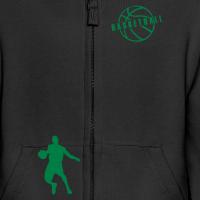 Zoom: Kids' Premium Zip Hoodie with design Basketball Slogan Ball