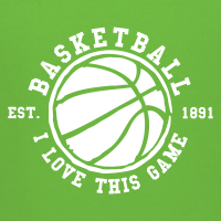Zoom: Kids' Premium Hoodie with design Basketball - I love this game