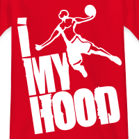 Zoom: Teenage T-shirt with design I Dunk My Hood