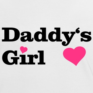 Daddy's Girl I love Dad i heart daddy, herz T-Shirts - Frauen Kontrast-T-Shirt
