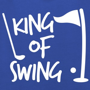 KING of SWING golf fun design with a ball club and a flag Kids' Tops - Kids' Premium Hoodie