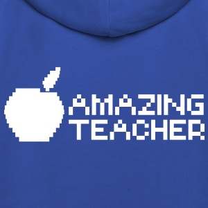 AMAZING computer TEACHER with apple in a digital  Kids' Tops - Kids' Premium Hoodie