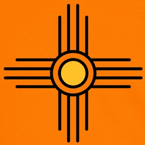 Zia sun, Vectorgraphic, Sun Symbol,  Zia Pueblo, New  Mexico, Sacred Symbol, Protection Symbol T-Shirts - Men's Ringer Shirt