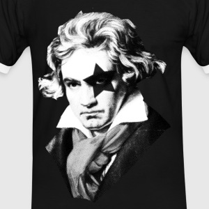 Beethoven rock Kiss Black Metal Tee shirts - T-shirt contraste Homme