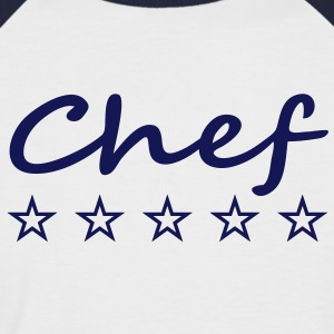 5_stars_chef T-Shirts - Men's Baseball T-Shirt